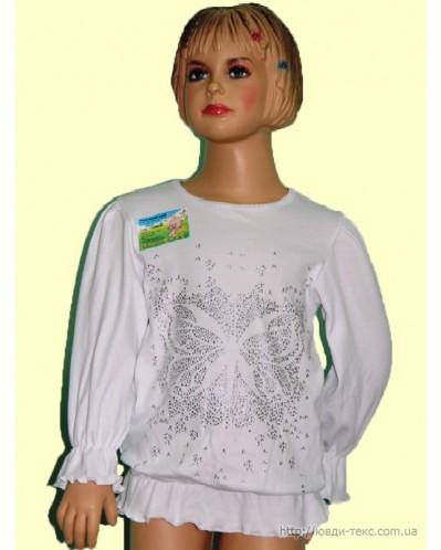 Блузка «Наташа» белая со стразами    2-079