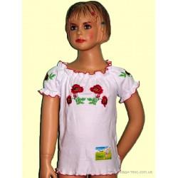 2-098 Вышиванка для девочки с короткими рукавами