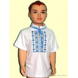 2-103Вышиванка для мальчика с короткими рукавами