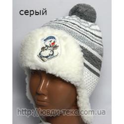 """Шапка +шарфик \""""Снеговик мех\"""" 15-013"""